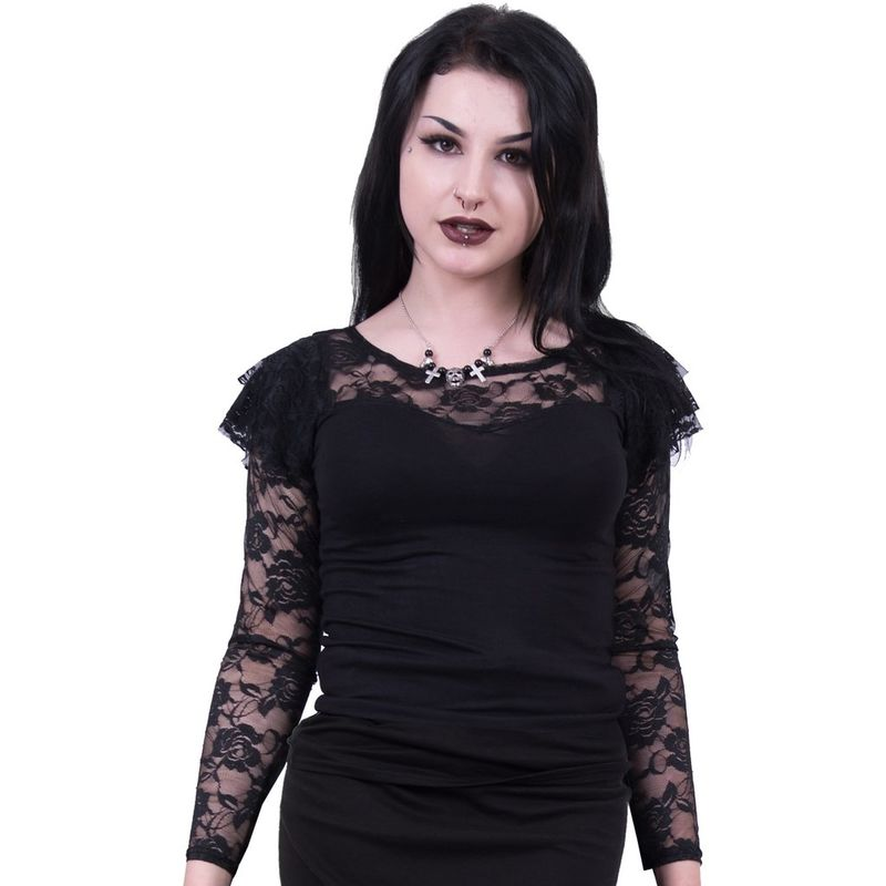 Spiral Gothic Elegance Lace Layered - Long sleeve