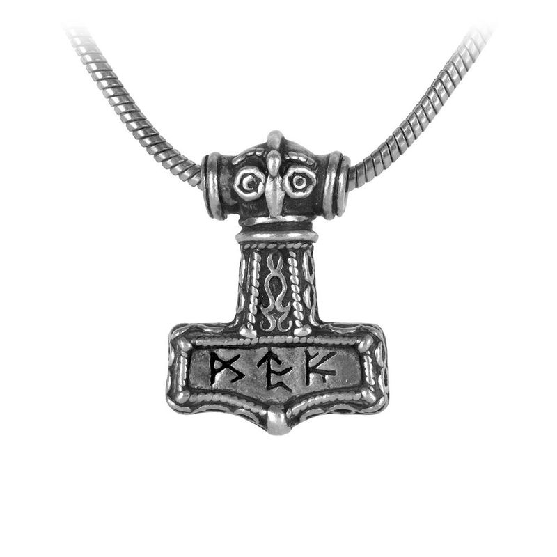 Alchemy Gothic Bindrune Hammer - Necklace