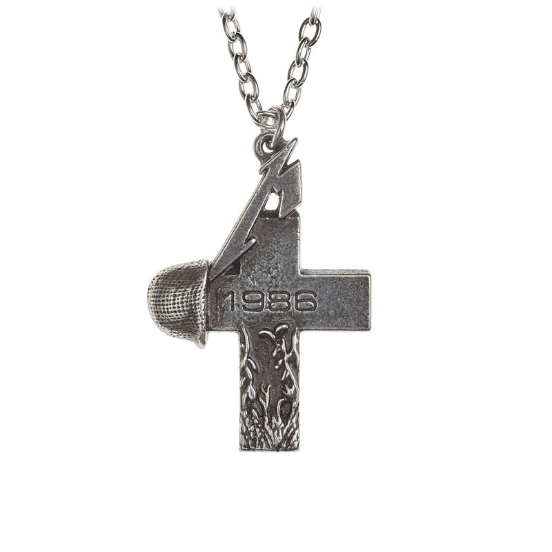 Alchemy Gothic Metallica: Master Of Puppets, 1986 cross - Necklace