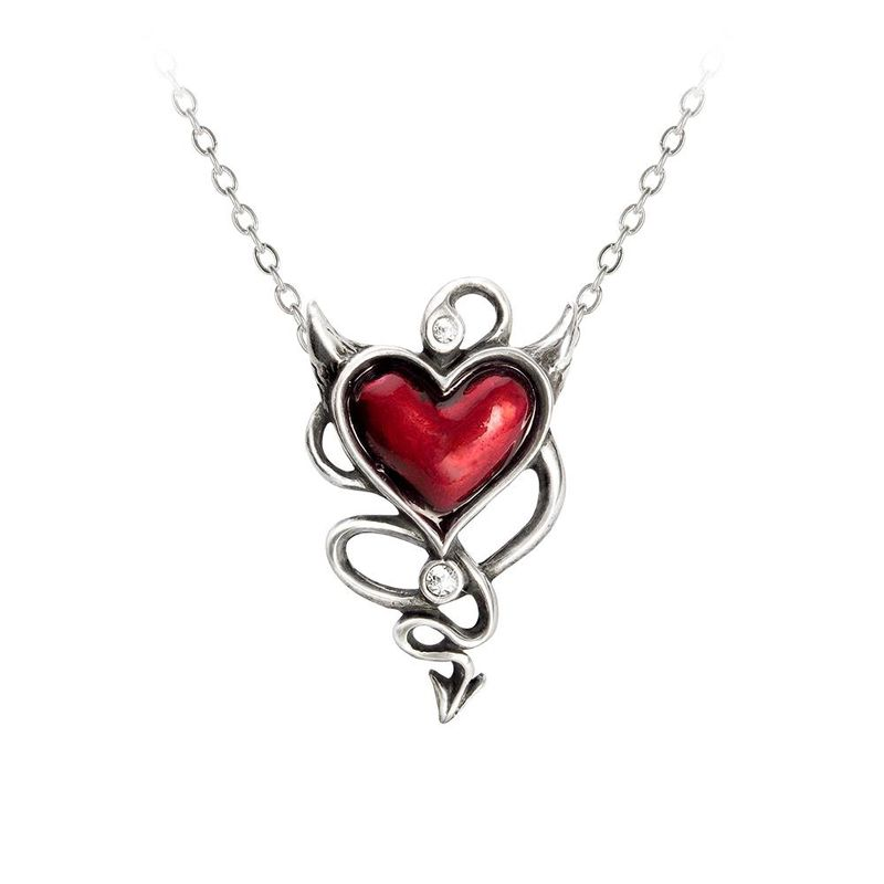 Alchemy Gothic Devil Heart - Necklace